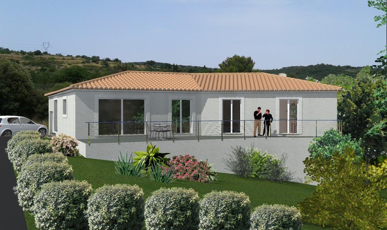 Plan maison villa contemporaine gard pont ales nimes for Maison moderne gard