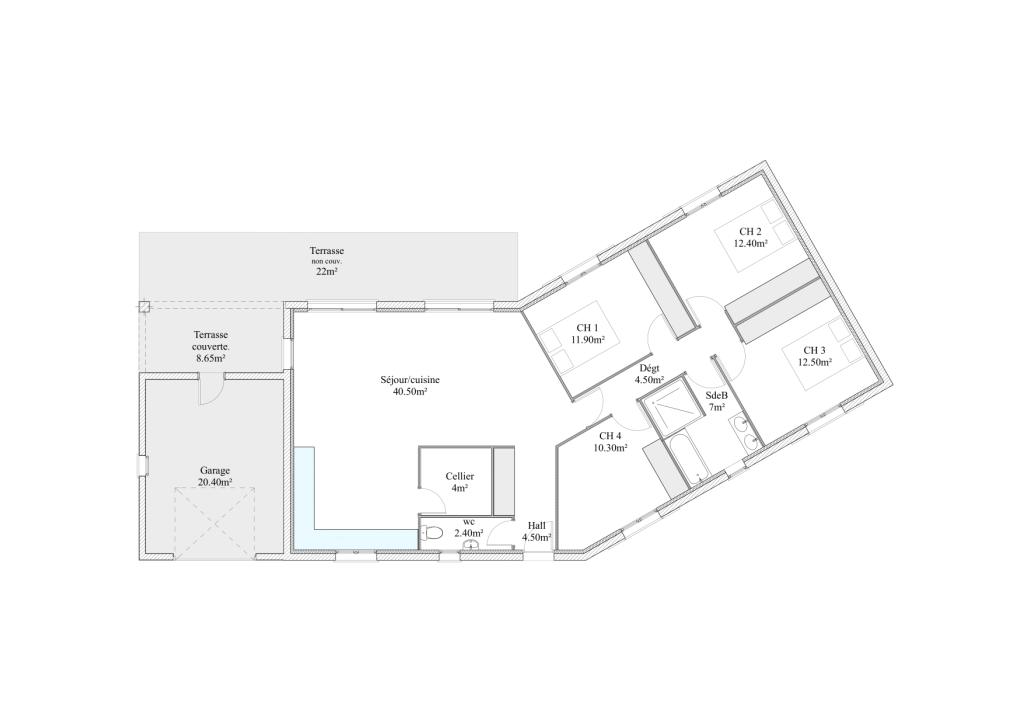 Maison contemporaine for Plan de garons
