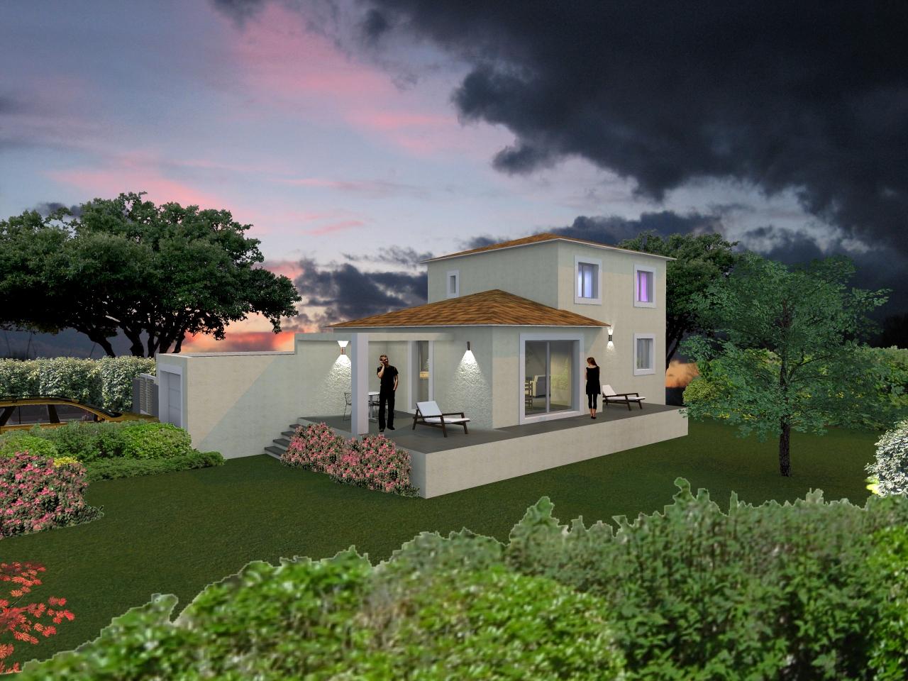 plan maison villa contemporaine gard pont ales nimes anduze uzes sommi res. Black Bedroom Furniture Sets. Home Design Ideas